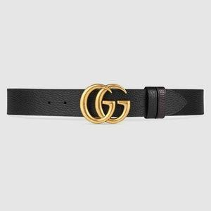 New Black Leather Gucci Belt